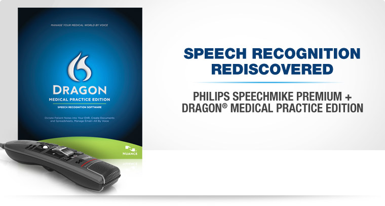 Speech Recognition Discovered. Philips SpeechMike Premium + Dragon Medical Practice Edition